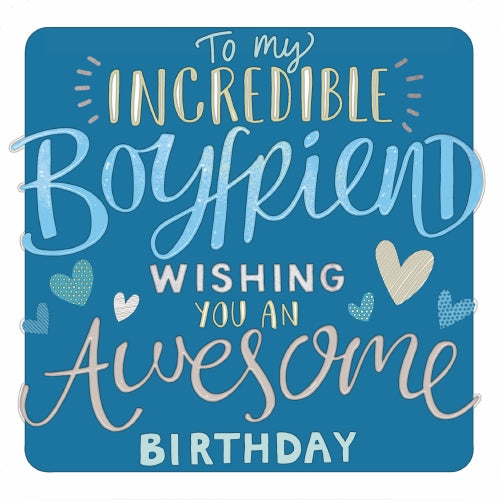 "6x6"" Card - Boyfriend Wishing You An Awesome Birthday"