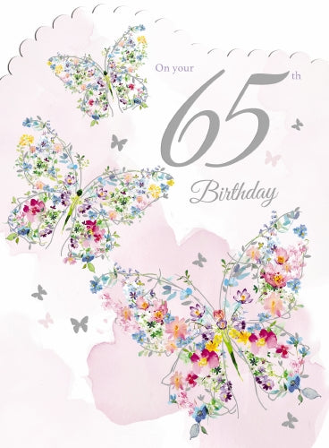 "7x5"" Card -  65th Birthday"