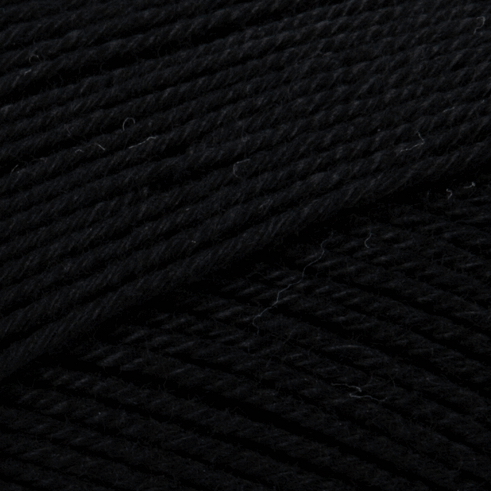 100% Cotton Yarn - 4 Ply x 100g - Black