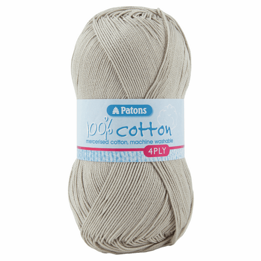 100% Cotton Yarn - 4 Ply x 100g - Limestone