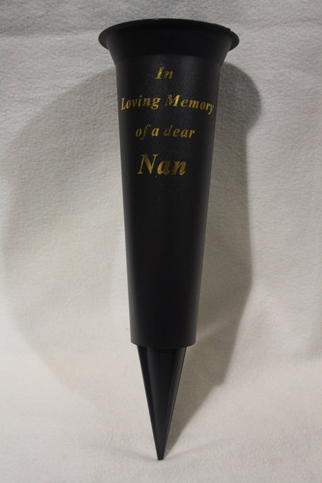 Grave Vase Spike In Loving Memory Nan