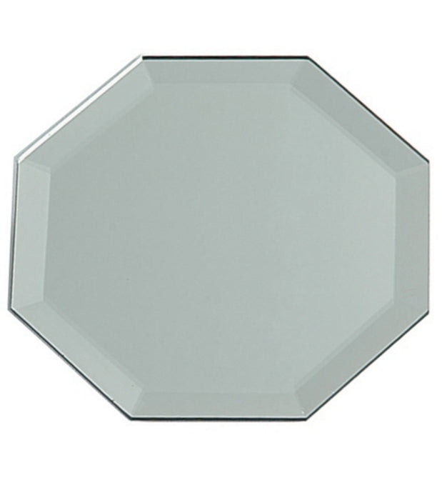 Hexagon Mirror Plate- 25cm