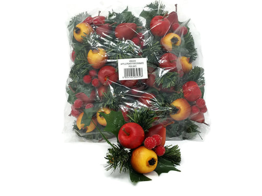 Apple, Pear & Pomegranate Artificial Fruit Pick  x 18cm - Pack of 12