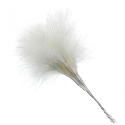 Fluffy Cream Feathers x 6