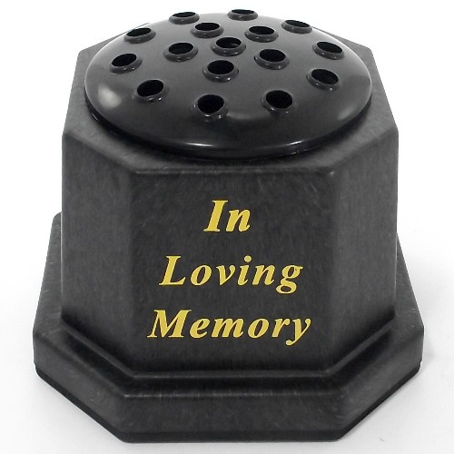 Black In Loving Memory Memorial Pot