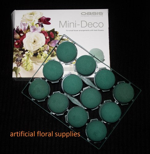 12 Mini Deco Oasis Floral Foam
