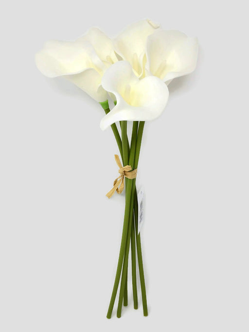 Real Touch Calla Lily - 5 Stem Bundle - Ivory