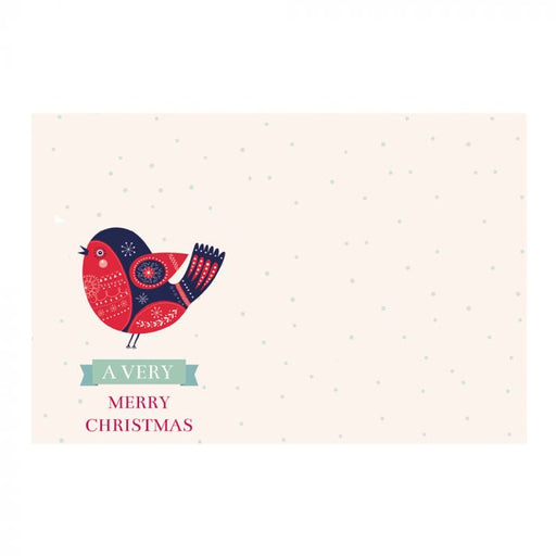 50 A Very Merry Christmas Florist Cards with Bird