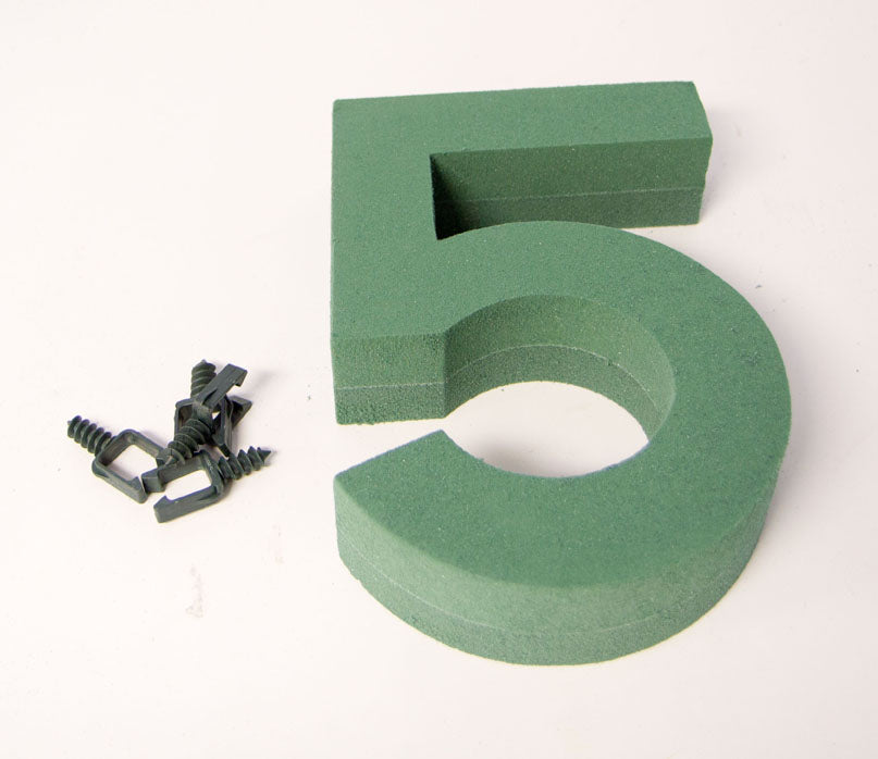"Oasis Floral Foam Number with Clips ""5"""