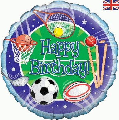 "18"" Foil Balloon - Sporty Happy Birthday"