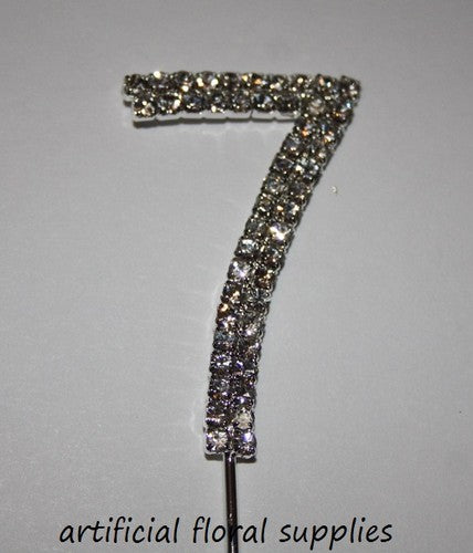 "Single Number Diamante Cake Topper ""7"""