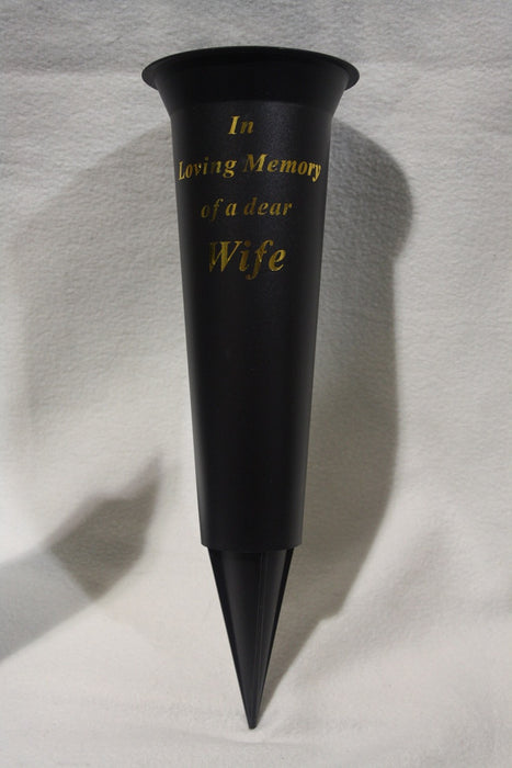 Grave Vase Spike In Loving Memory Wife