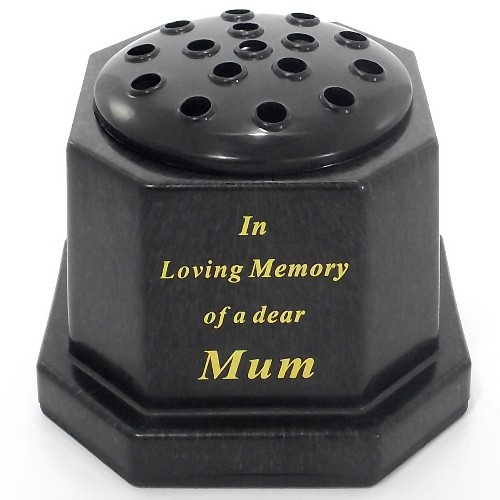 Black In Loving Memory Memorial Pot - Mum