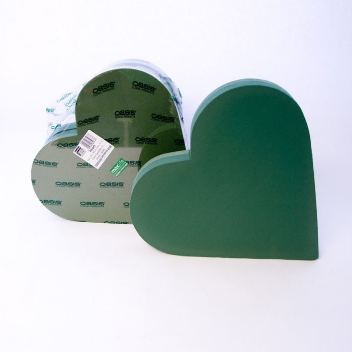 "Oasis Wet Foam Backed Solid Heart - 18""x 18"""