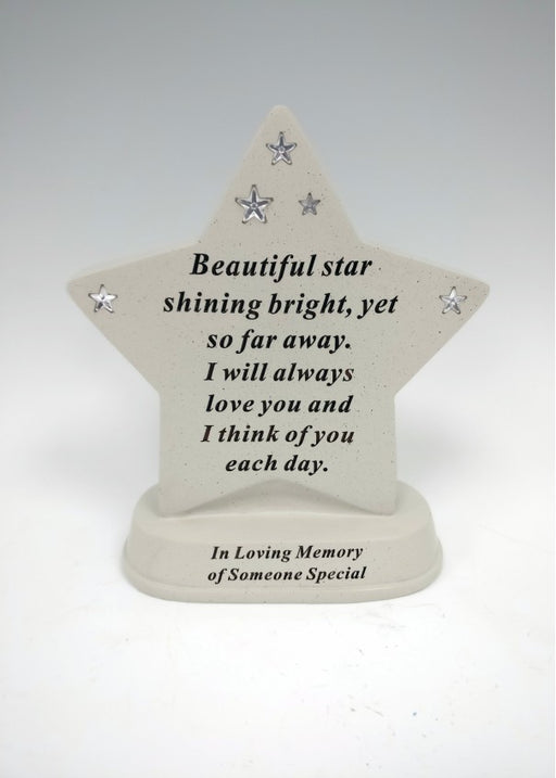 'Someone Special' Diamante Star Memorial Plaque