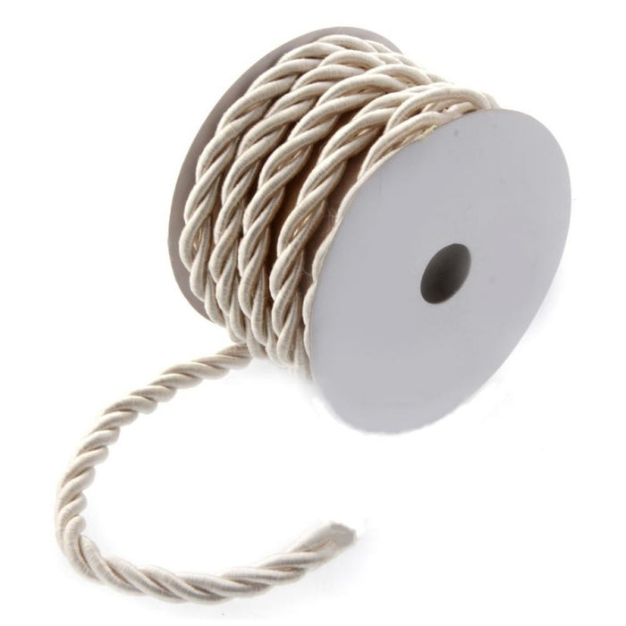 Cream Twisted Cord  6mm x 10m