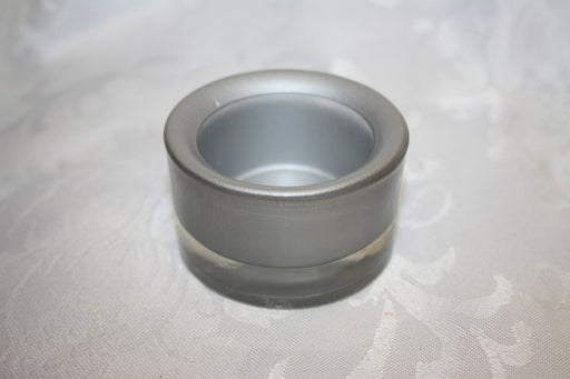 5.9 Cm x 4.5 Cm Glass Tealight Holder - Silver