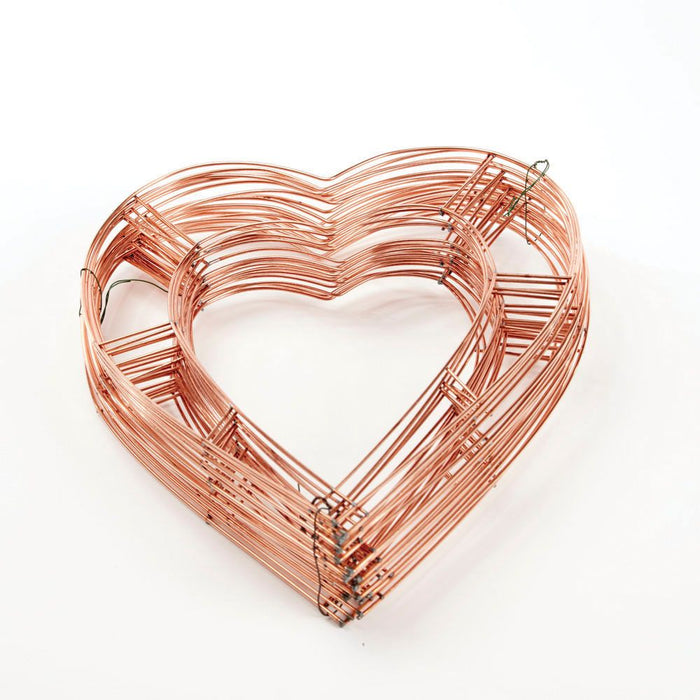 "Flat Wire Wreath Heart Frame x 12"" - Pack of 20"