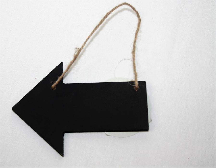 Wooden Hanging Blackboard Arrow Sign Small
