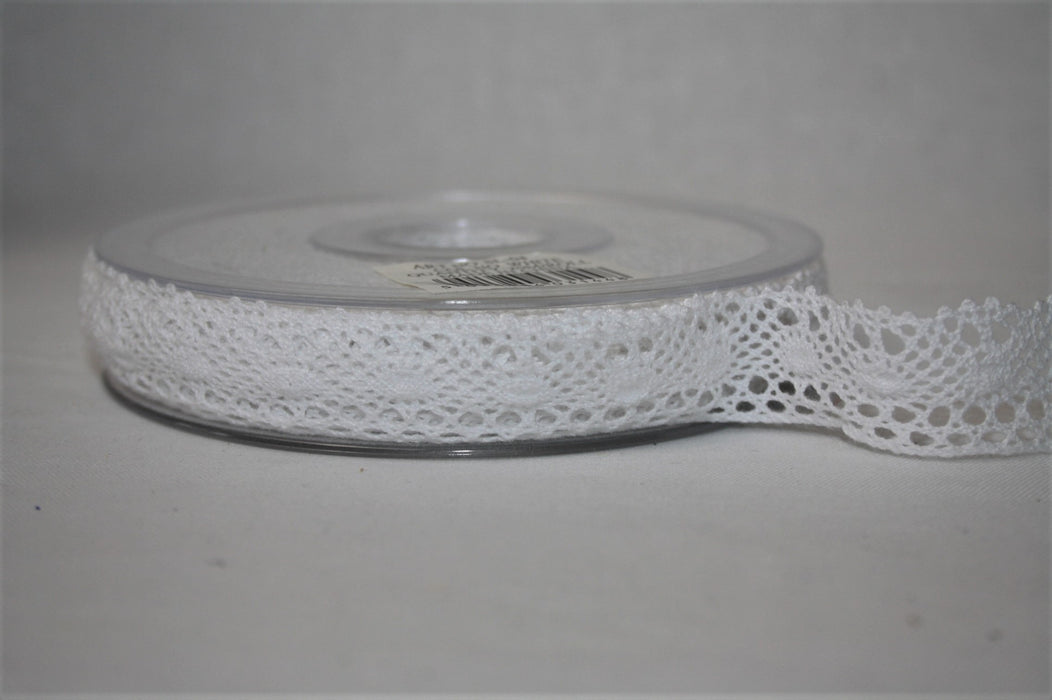 White Cotton Lace Ribbon 20mm x 20m