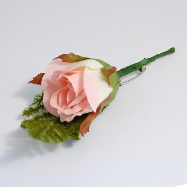 Pink And Cream Rose Buttonhole
