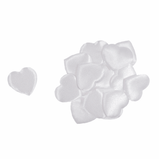 Padded 2cm White Heart Craft Shapes  Pack of 15