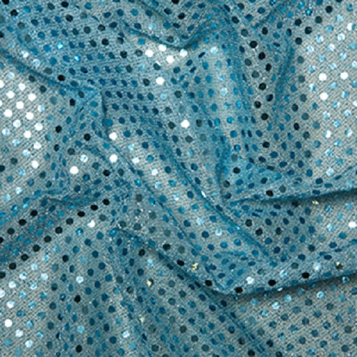 Sequin Jersey Fabric with 3mm Diameter Sequins - Choice of Colour