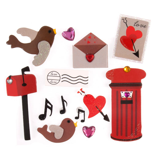 Valentines Day Stickers , Post Box