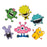 Craft Embellishments Little Monster - Pack of 6