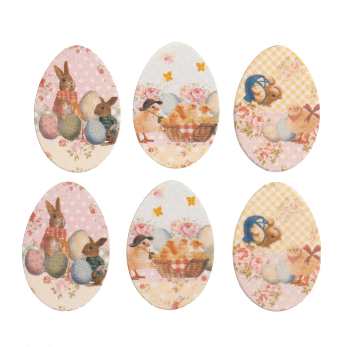 Craft Embellishments Easter Eggs -  Pack of 6