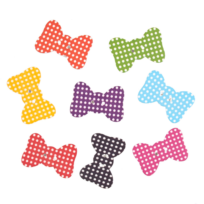 Craft Embellishments Polka Dot Bow Ties -  Pack of 10