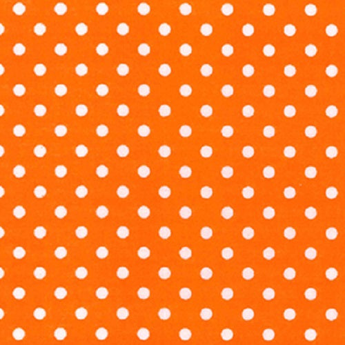 4mm Polka Dot Polycotton Fabric x 112cm - Orange
