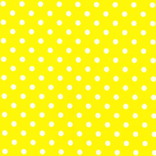 4mm Polka Dot Polycotton Fabric x 112cm - Yellow