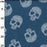 "Printed Denim- 100% Cotton - 147cm/58"" - Floral Skull"
