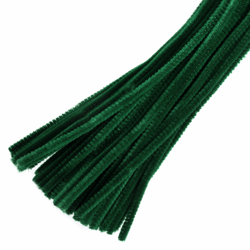 30 x Chenilles Pipe Cleaners  30cm x 6mm - Green