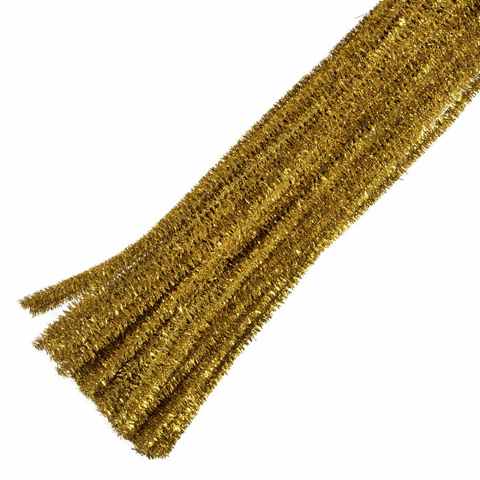 30 x Chenilles Pipe Cleaners  30cm x 6mm - Gold Glitter