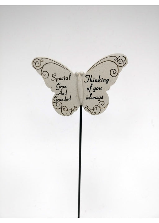 Butterfly Memorial Stick - Special Gran and Grandad