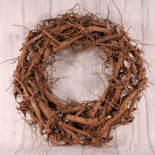 Rustic Round Natural Twig Wreath x 30cm