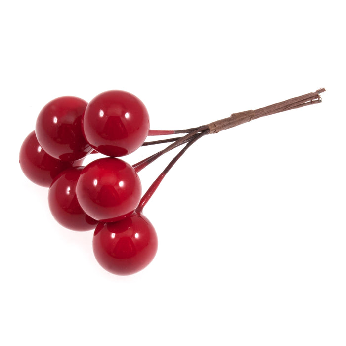 6 Red Berries - 15mm
