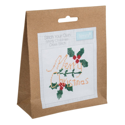 Mini Counted Cross Stitch Kit - Merry Christmas