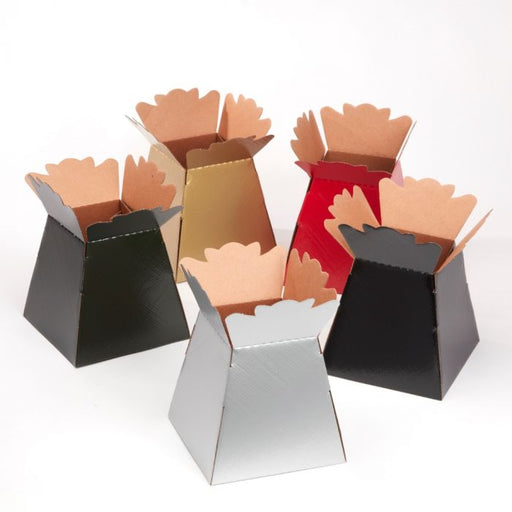25 Glossy Porto Living Vase Boxes - Christmas Colours Assorted