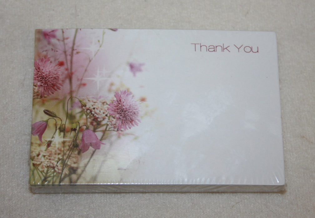 Pack of 50 Florist Cards thank you / cottage garden