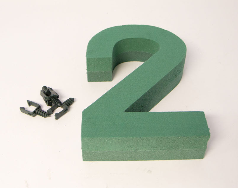 "Oasis Floral Foam Number with Clips ""2"""
