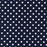 4mm Polka Dot Polycotton Fabric x 112cm - Navy
