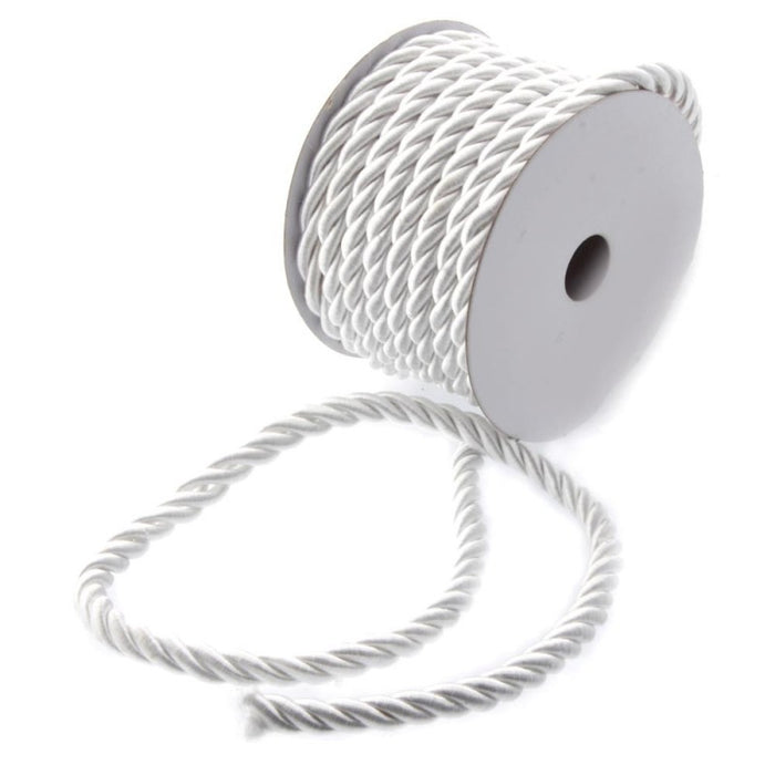 White Twisted Cord  6mm x 10m