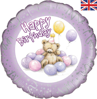"18"" Foil Balloon - Happy Birthday Cute Bear"