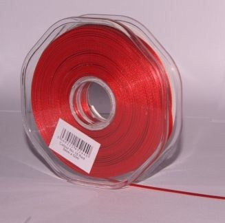 10mm x 20m Double Faced Red Satin Ribbon