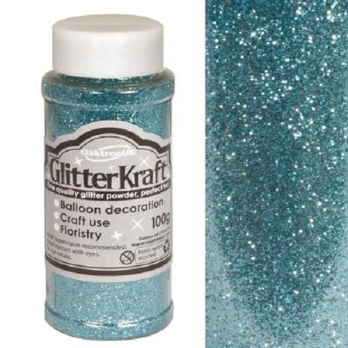 100g Glitter Pot - Light Blue