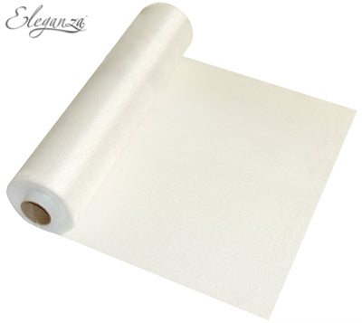 29cmx25m Organza Fabric Sheer Roll White