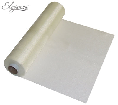 29cmx25m Organza Fabric Sheer Roll Ivory